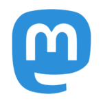 The Mastodon icon: a white M inside a blue speech bubble.